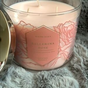 Bath & Body Works Accents - BOGO FREE! Ballerina Rose 3 Wick Candle